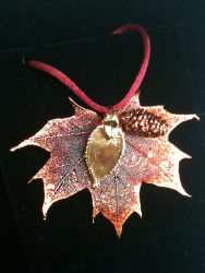 A necklace made from a leaf