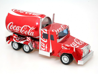 Model made from Coca-Cola cans