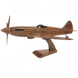 A wooden airplane model