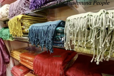 Various pashminas in different colours