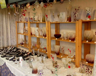 Glass with care's stall
