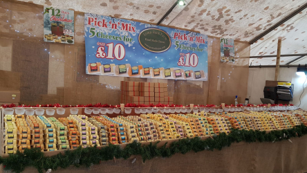 Lymn Bank Farm Limited stall at the Christmas Market