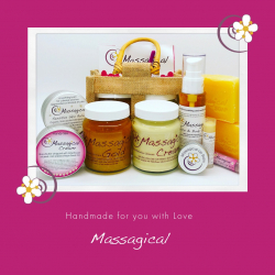 A selection of Massagicals products
