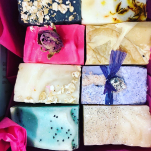 Various homemade soaps